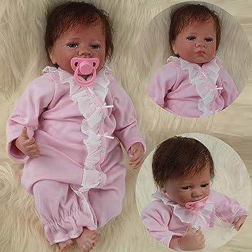 Amazon.es: ZIYIUI 20 Pulgadas Muñeca Reborn Bebes Reborn Silicona Blanda Reborn Muñecos Bebé Recién Nacido Navidad Regalo de Juguete Baby Doll Bebe Reborn Niña Ojos Abierto: Juguetes y juegos