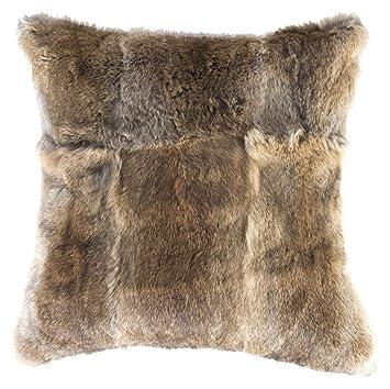 Amazon.com: Natural and Co. - Almohada de piel de conejo ...