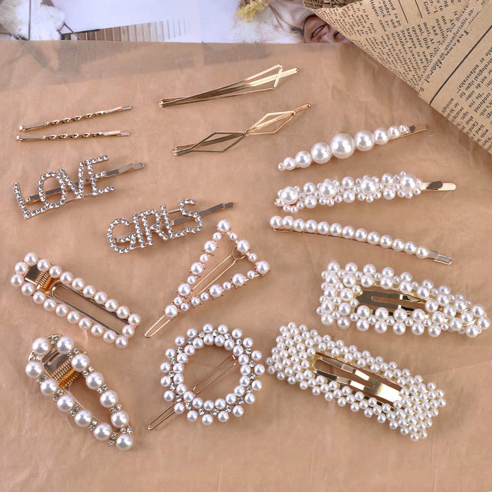 Hair Clips Barrettes  Rhinestones Metal Jewelry Hairpins Crystal Fashion