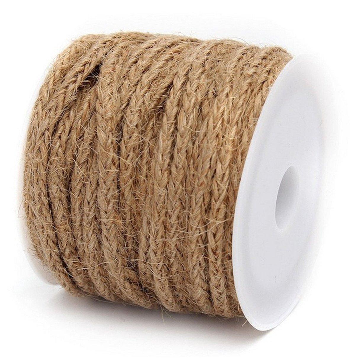 Edtoy 5M Burlap Twine Jute String Rope for Crafts Wedding Invitations DIY Projects