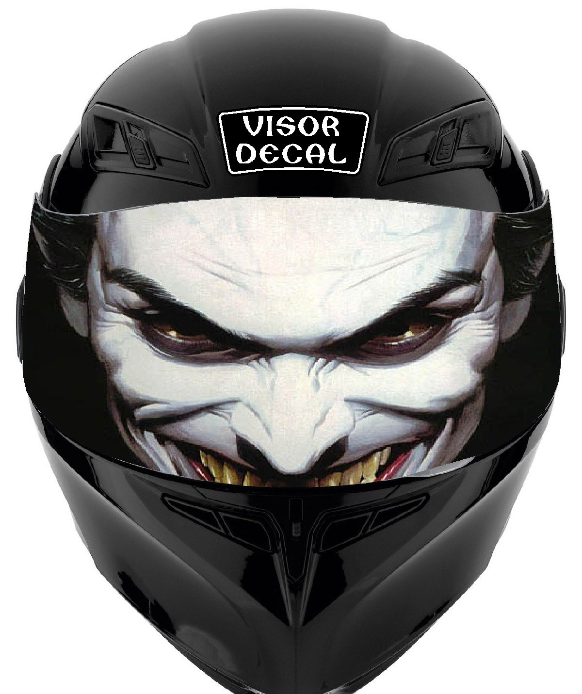 Amazon com v16 joker visor tint decal graphic sticker helmet fits icon shoei bell hjc oneal scorpion agv automotive