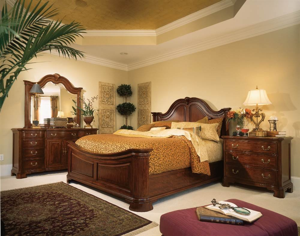 Amazon.com: American Drew Cherry Grove Mansion Bed   Queen: Home U0026 Kitchen