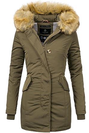 3e79d2dcd000 Marikoo Damen Winter Mantel Winterparka Karmaa XS-XXXXXL (vegan hergestellt)  15 Farben XS-XXL  Amazon.de  Bekleidung