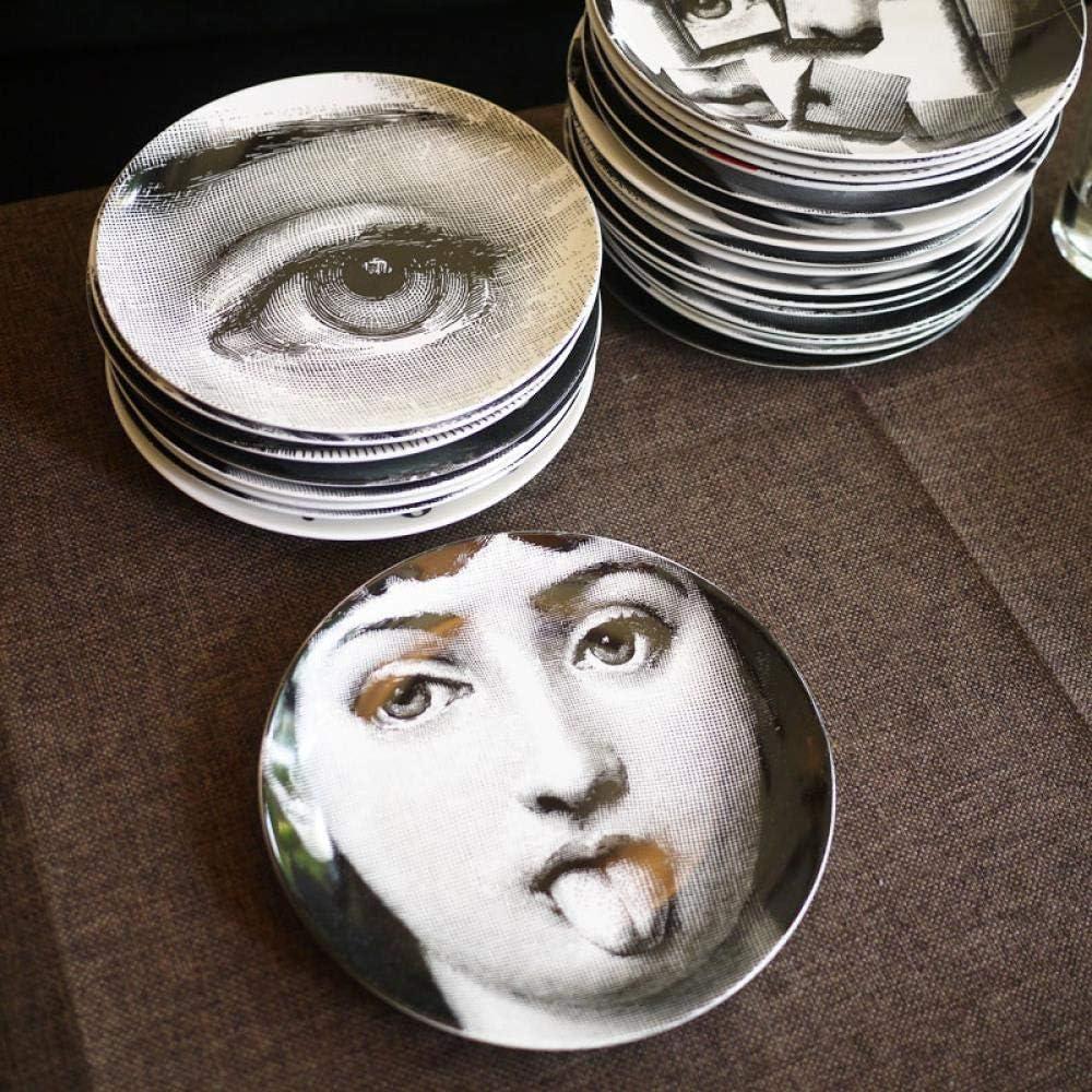 Jingyia999 Piero Fornasetti Plaques Beaut/é Illustration Suspendre Plats Artisanaux D/écoratifs Maison//h/ôtel//Bar Plate D/écor Ornement-6 Pouces