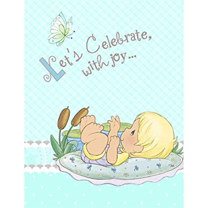 Perfect Precious Moments Baby Shower Invitations   Baby Boy Baby Shower Invitations    8 Count