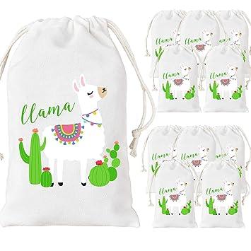 Kreatwow Paquete de 12 Bolsas de Favor para Fiesta de Llama ...