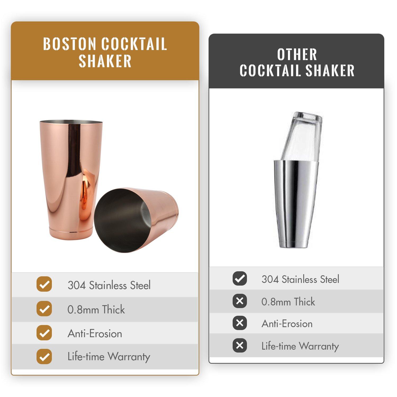 Stainless Steel Cocktail Shaker Martini Bartender Shaker Drink Cup For Bar RK