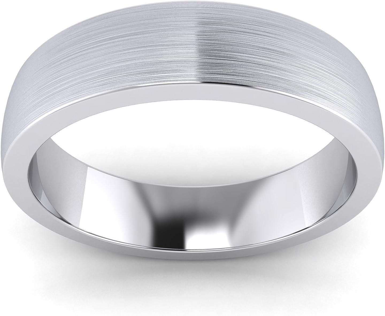 Unisexe Argent sterling 5/mm Super lourds cour Forme bross/é mat Bague de mariage