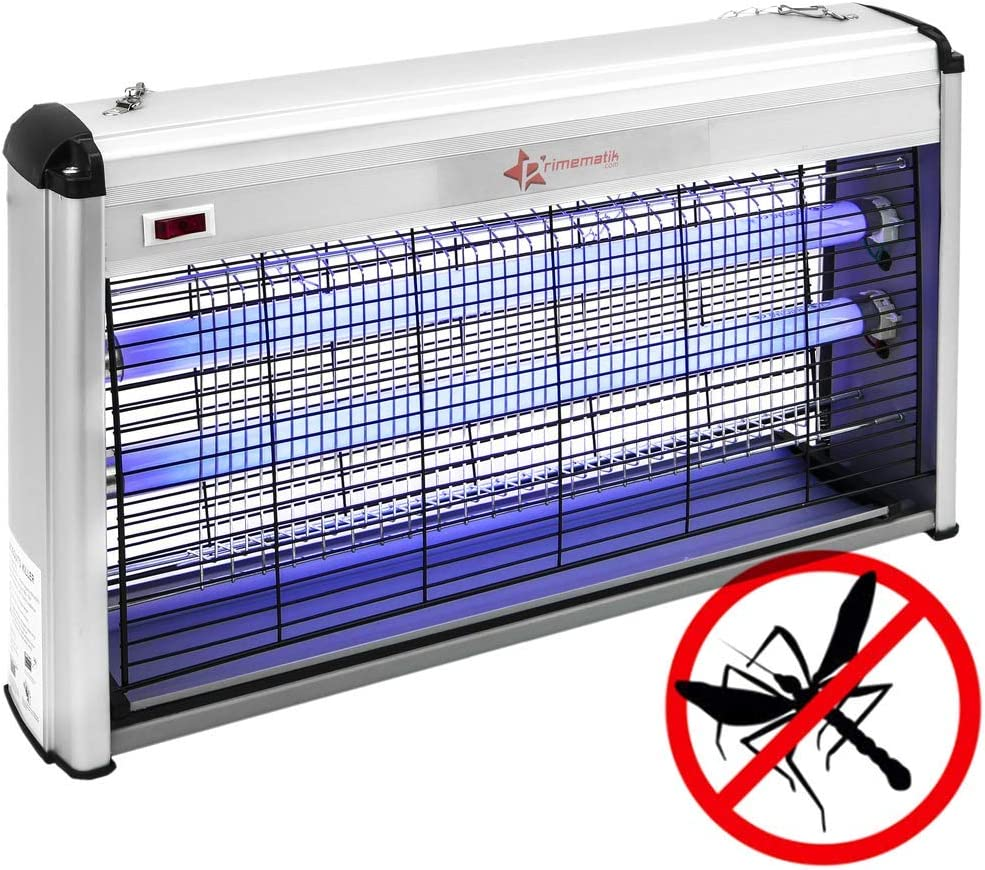 PrimeMatik - Lámpara Mata Insectos voladores y Moscas Matamoscas i Mosquitos eléctrico 30 W