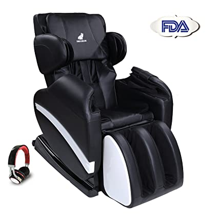 SUNCOO Full Body Shiatsu Massage Chair Recliner W/Heat Stretched Foot Rest  (Black)