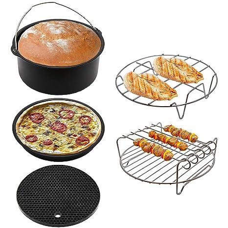 Fryer - Juego de accesorios para freidora de aire de 5,3 quilates y 5,8 quilates, ...