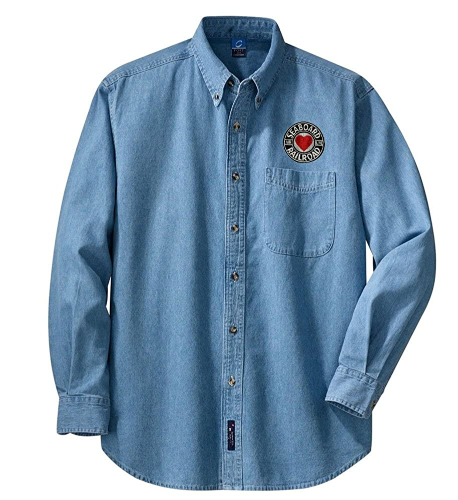 den116LS Seaboard Air Line Railroad Long Sleeve Embroidered Denim