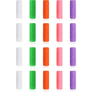 20 Pieces Aligner Tray Seaters Chewies for Aligner Trays Chompers Aligner Trays (Pink, Orange, Green, Purple, White)