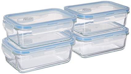 e2c0b943ecf Misc Home  Premium 4 Sets Glass Meal Prep Food Storage Container Snap  Locking Lid
