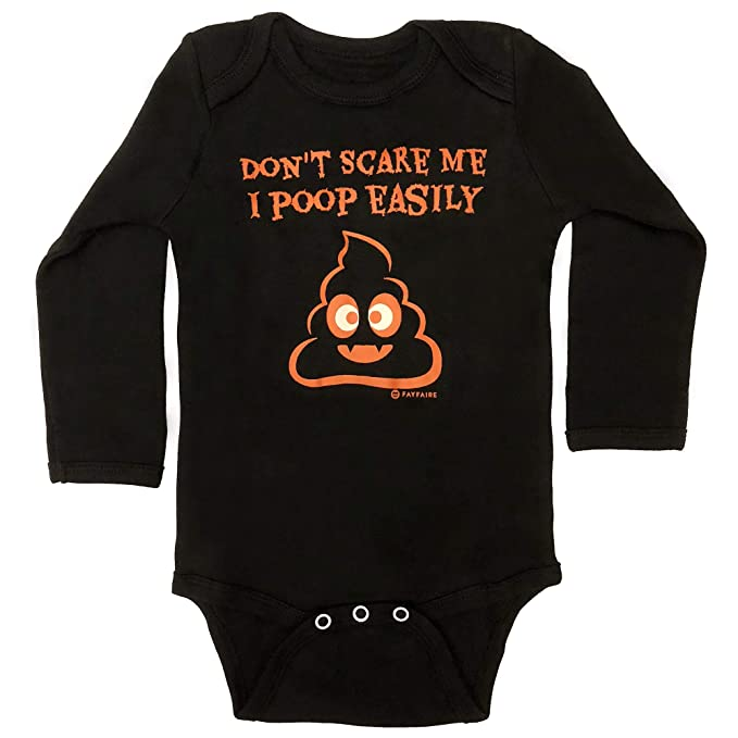 Scary Baby Girl Halloween Costumes.Fayfaire Halloween Costume Baby Bodysuit Adorable Infant Onesie For Boys Girls Don T Scare Me I Poop Easily Nb 12m