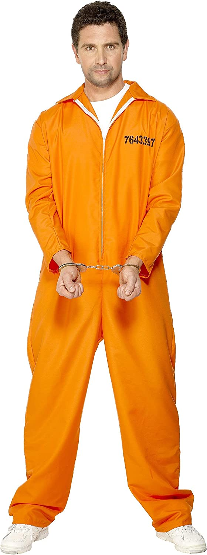 Smiffys-29535L Disfraz de Prisionero huido, con Enterizo, Color ...