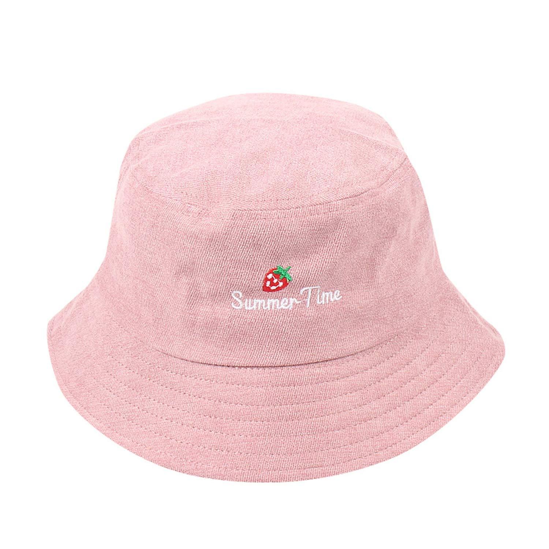 Feitong Sun Cap Adult Women Men Strawberry Corduroy Fisherman Hat Sunscreen Outdoors Chalas De Verano