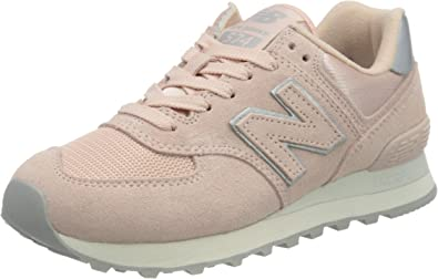 New Balance, 574 Oyster Pink Suede Mesh Pink, NBWL574OPS