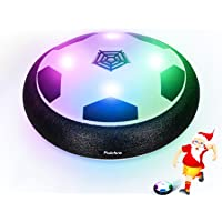 Pulchra Air Fußball (Eingebaute LED-Leuchten & Schaum Stoßstangen) Elektronische Power Hover Fußbälle Disc für Kinder Sport Flitter Geschenke Indoor & Outdoor Training Spiel Ball
