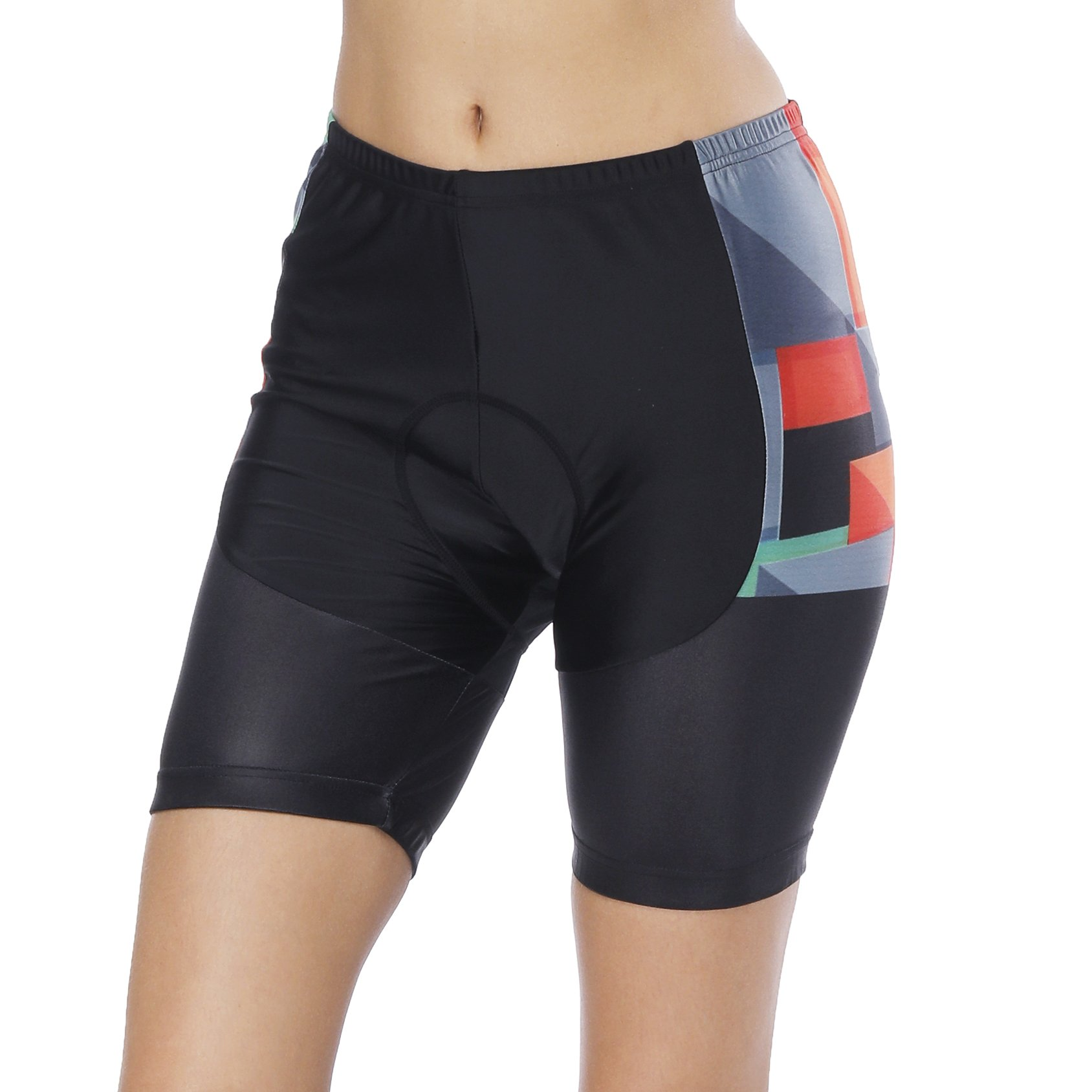 Womens Bike Shorts for Cycling with 3D Padded Pink Ride Women Cycling Shorts Rainbow S