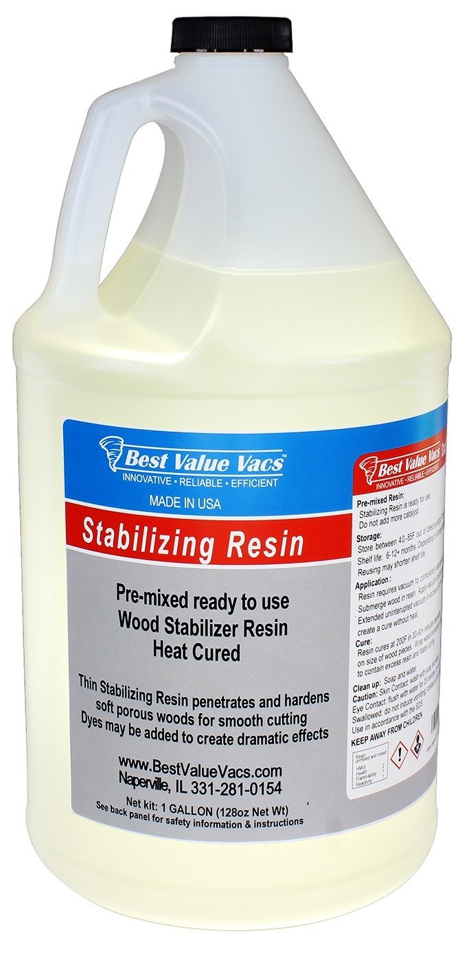 BVV Wood Stabilizing Resin - USA Made- 1 Gallon Pre Mixed