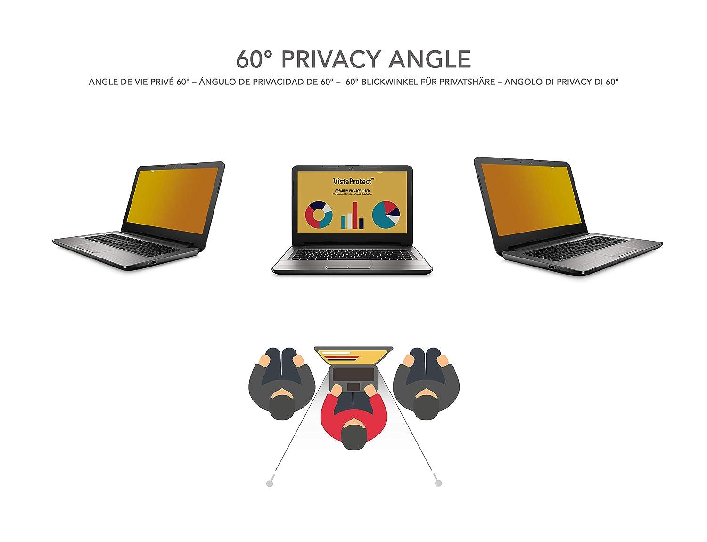 VistaProtect - Filtro de Privacidad Premium Oro, Gold Privacy Screen Filter, Protector de Pantalla para Ordenador Portátil (14″ Pulgadas: Amazon.es: ...