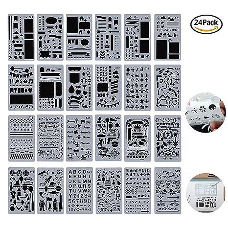 Juego de 24 plantillas de dibujo para niños, creativas plantillas de bricolaje, para pintar