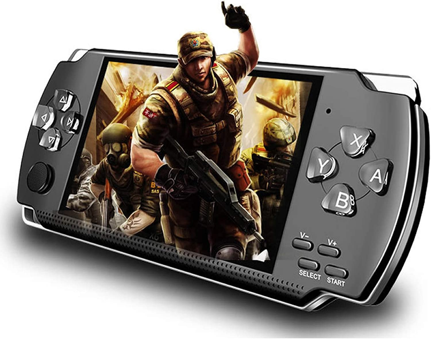 Amazon Com Lktina 8gb 4 3 1000 Lcd Screen Handheld Portable Game Console Media Player With Camera Built In 1200 Real Video Games For Gba Gbc Sfc Fc Smd Games Best Gift For Kids And Adults Black Medium Toys