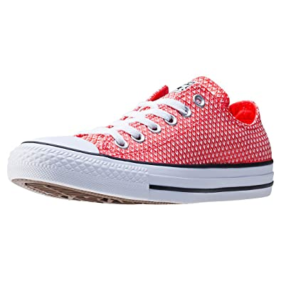 Converse All Star Ox Trainers Red 3 UK