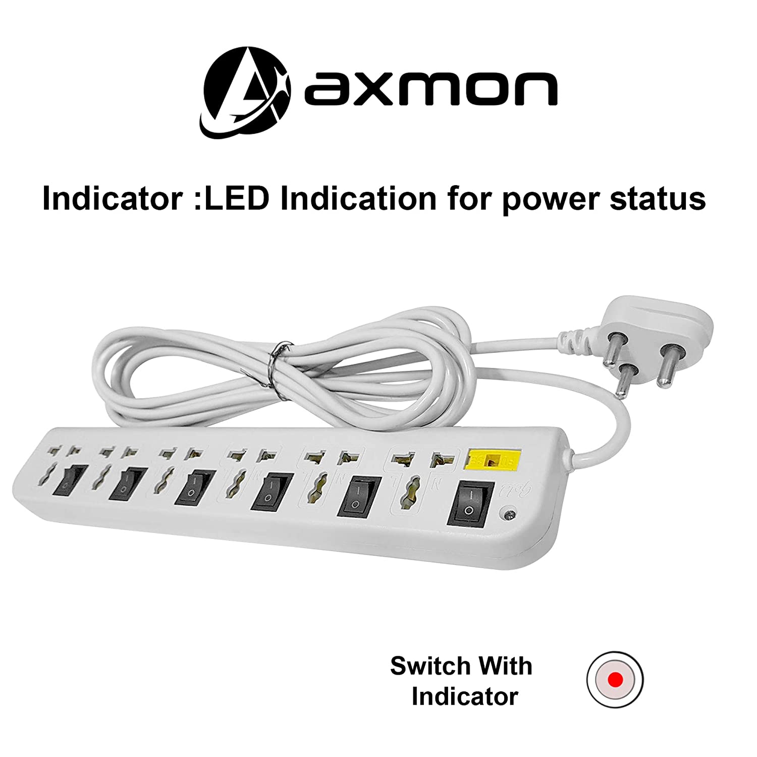 best extension board in india with USB port with 3M wire