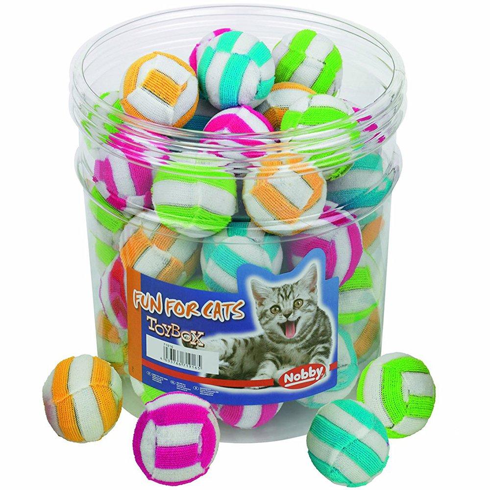 Nobby Stoff Ball gestreift Spielzeug Box für Katzen, 4cm, 917.0648