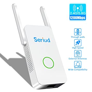 Seriud Extender,WiFi Extender,WiFi Booster WiFi Range Extender Dual Band  Supports 2G & 5G Internet Extender Wireless Extender Wireless Internet