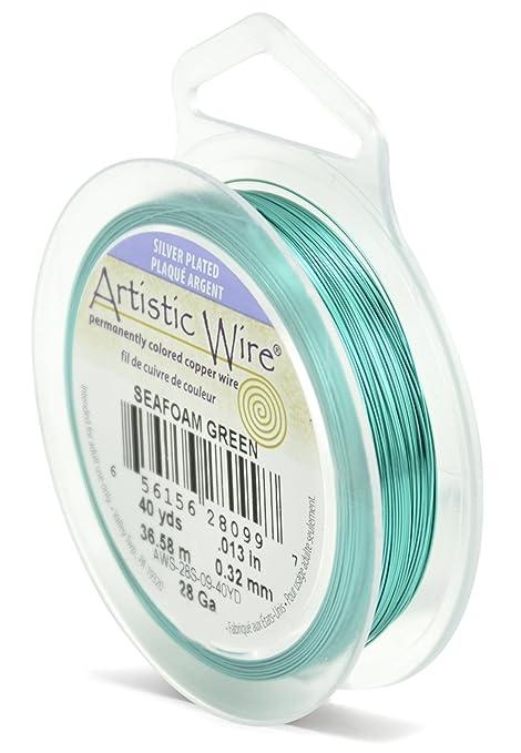 Artistic Wire Beadalon 28-Gauge Silver Plated Sea foam Green Wire ...