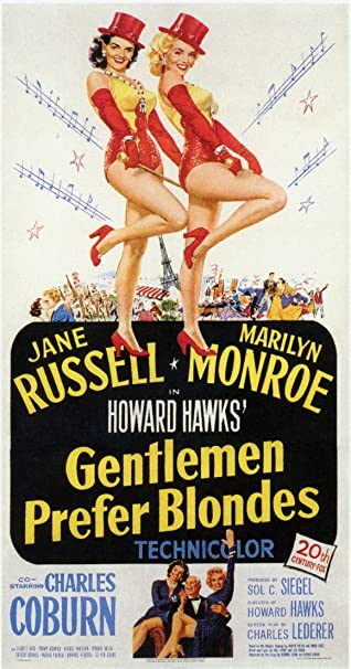 Gentlemen Prefer Blondes Movie poster 24in x 36in