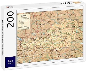 Lais Puzzle Physische Landkarte Osterreich 200 Teile Amazon De