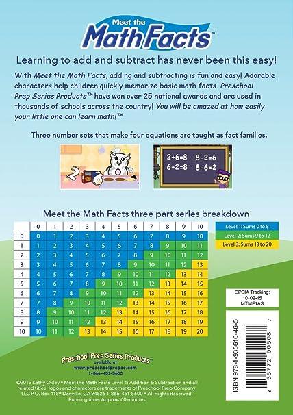 Amazon.com: Meet the Math Facts Level 1 DVD: Animation: Movies & TV