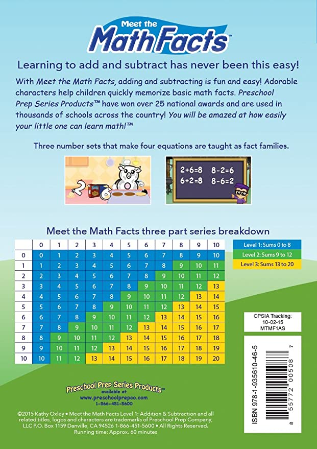 Math Facts: Addition & Subtraction - Level 1 Import: Amazon.ca: DVD
