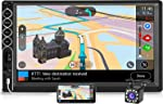 Double Din Car Stereo with 12LED Backup Camera, 7 Inch Touch