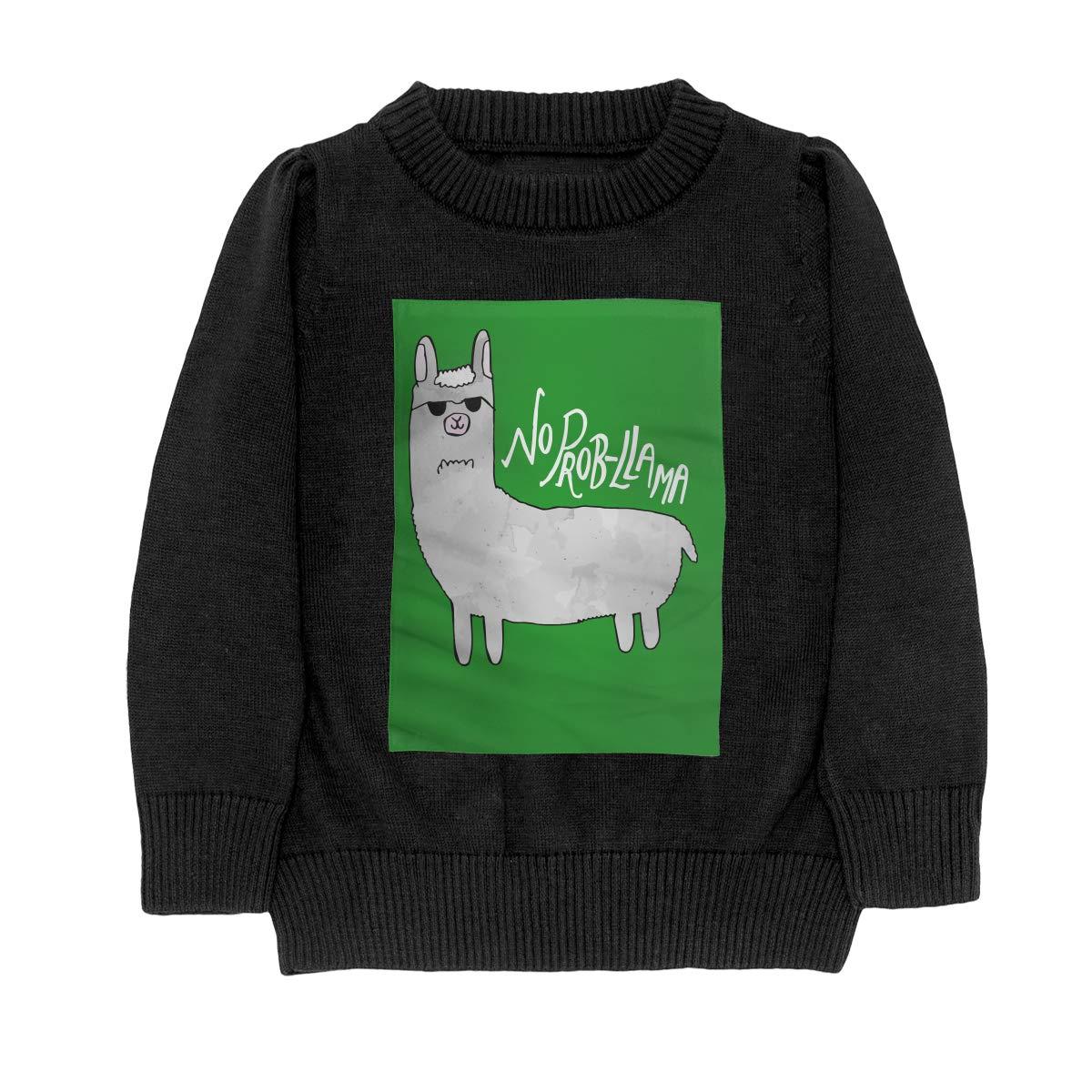 No Prob-Llama Casual Adolescent Boys Girls Unisex Sweater Keep Warm