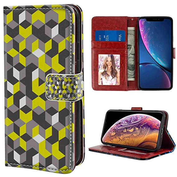 ff3508903a4 Amazon.com: Wallet Phone Case Compatible with Apple iPhone Xr [6.1 ...