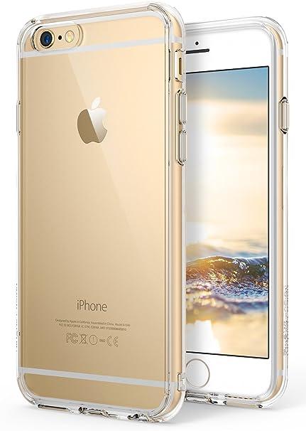 Ringke Fusion Diseñado para Funda Apple iPhone 6s, Carcasa iPhone 6 Transparente al Dorso Protección Resistente Impactos - Clear: Amazon.es: Electrónica