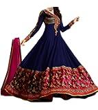 Livaaz Womens Georgette Anarkali Unstitched Dress Material