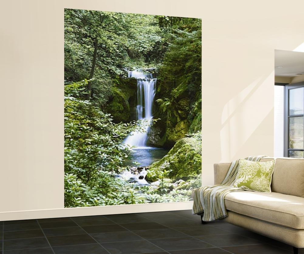 waterfall in spring 364 wall mural wall murals nature amazon com