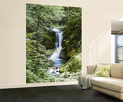 Waterfall in spring 364 wall mural