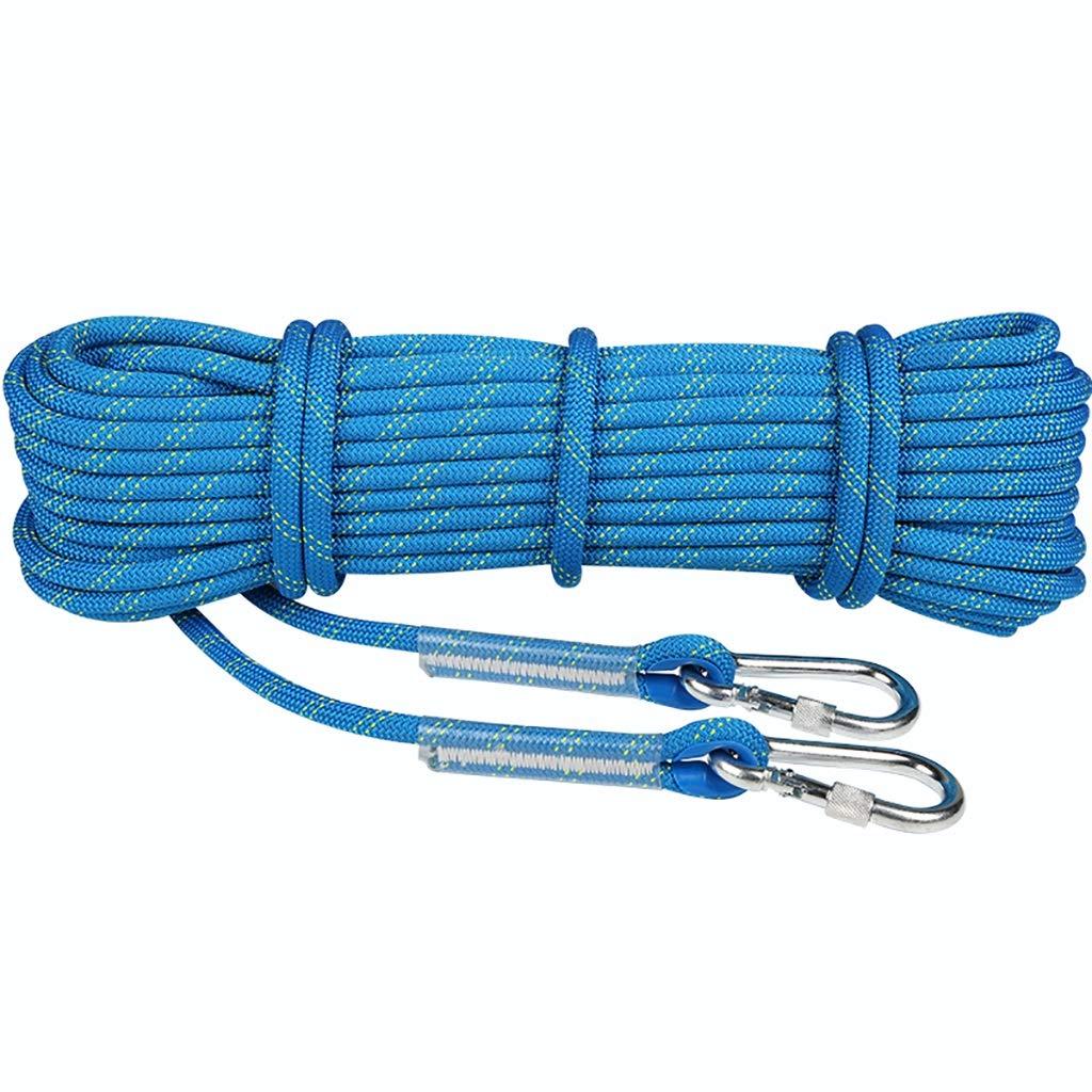 XXHDYR Corde d'escalade Corde résistante à l'usure Corde de sécurité de Haute Altitude Diamètre de la Ligne de Vie 11   12mm Long. Cordes (Taille   12mm 15m) 12mm 50m