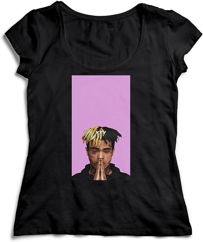 Xxxtentacion Pink Face T-Shirt Camiseta Shirt para la Mujer Camisa Negra Womens Women Tshirt 100% Algodón Regalo De Cumpleaños Navidad Mujer: Amazon.es: Ropa y accesorios