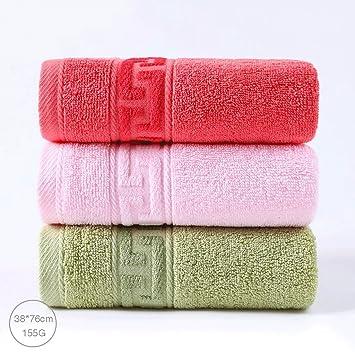 ZLR Toalla de algodón sólido engrosamiento Toalla de cara para adultos Toalla de cara absorbente suave para el hogar (Toallas * 3) (Color : 38*76cm-g) : ...