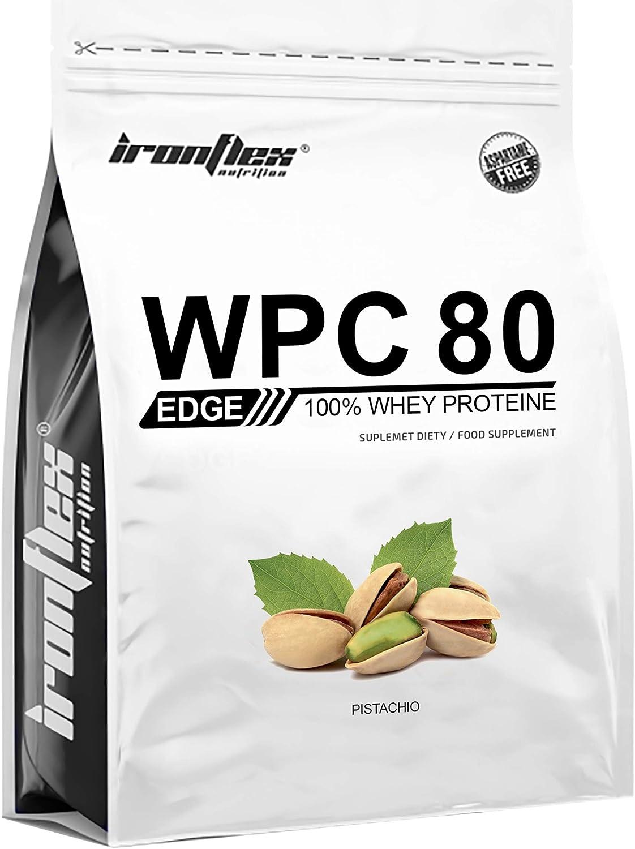 Iron Flex WPC 80 Edge - 1 paquete - Concentrado de proteína de suero - Perfil completo de aminoácidos - Suplemento de vanguardia - Cero azúcar ...