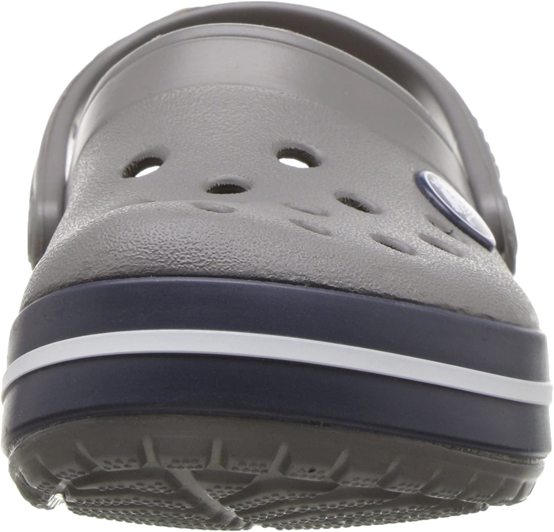 Smoke//Navy Crocs Kids Crocband Clog Slip On Shoes for Boys and Girls Water Shoes J6 US Big Kid