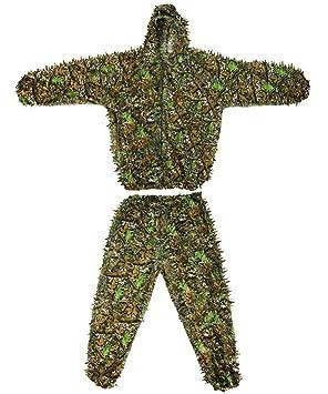 fengliu Ghillie Suit Woodland 3d hoja traje camuflaje ...